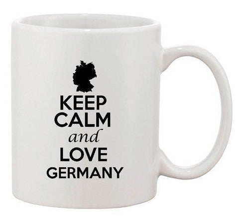 Keep Calm And Love Germany Berlin Country Map Patriotic Ceramic White Coffee Mug