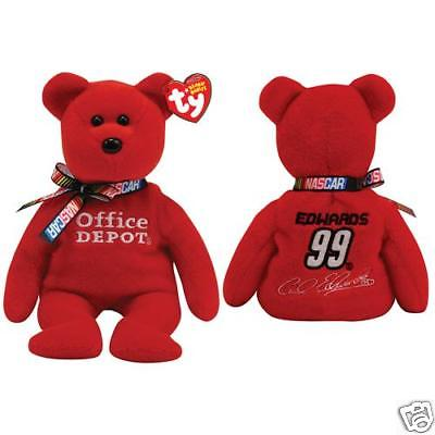 "Ty Beanie Babies Nascar 8"" Carl Edwards #99 racing Bear"
