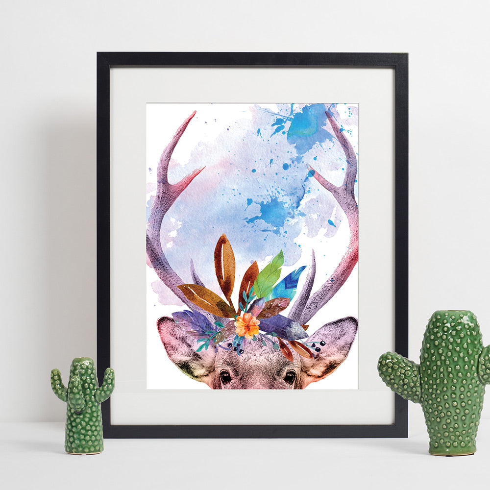 Colours of the Wild A3 Print - Deer