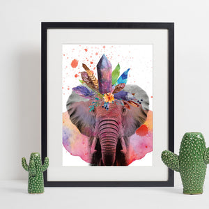 Colours of the Wild A3 Print - Elephant