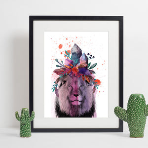 Colours of the Wild A3 Print - Lion