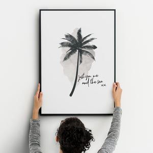 Just You, Me & The Sea A3 Print