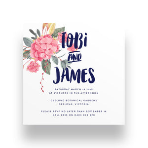 Playful Bunch Wedding Invitation