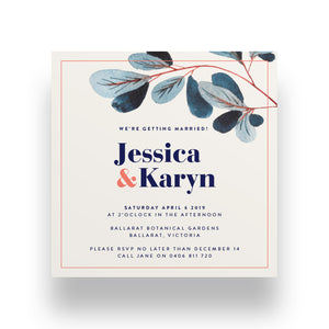 Soft Cream Wedding Invitation