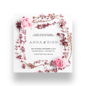 Sweet Posy Wedding Invitation