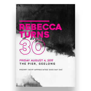 Dirty 30 Birthday Invitation