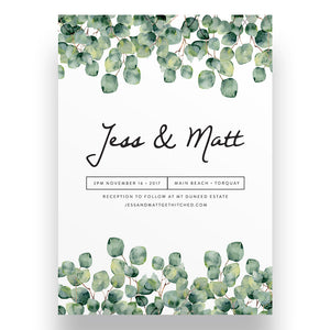 Gentle Leaves Wedding Invitation