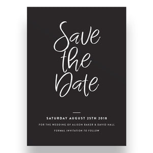 Blackboard Save the Date