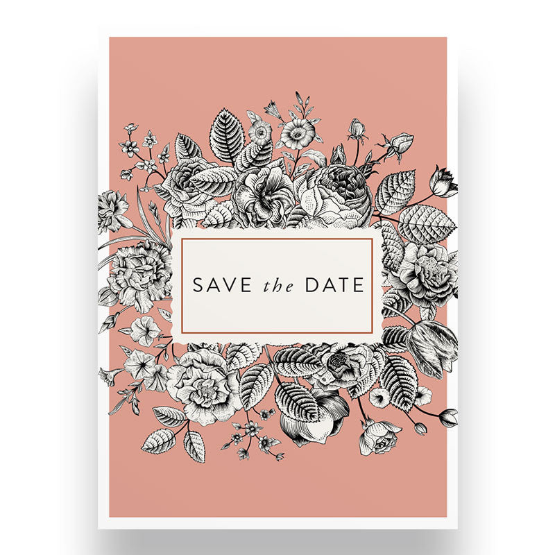 Bold Floral Save the Date