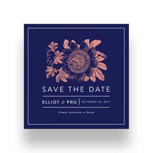 Vintage Passion Flower Save the Date