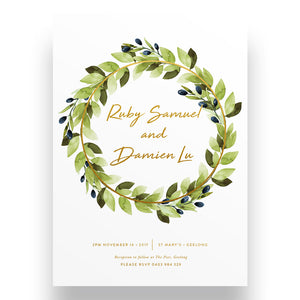 Luxe Botanica Wedding Invitation