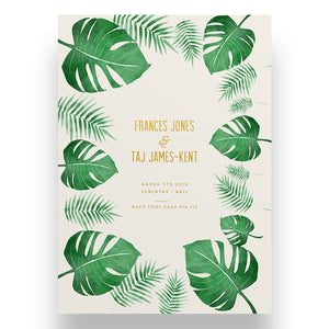 Bali Dreams Wedding Invitation