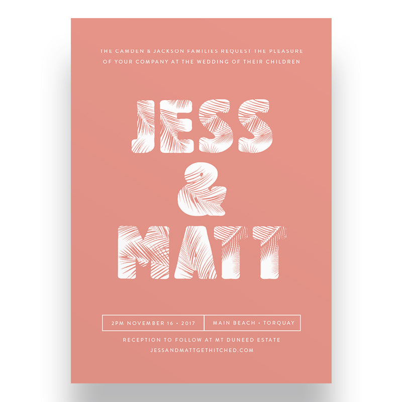 Beach Dreams Wedding Invitation