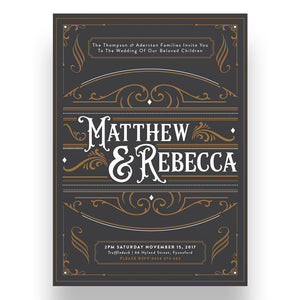 Heritage Wedding Invitation