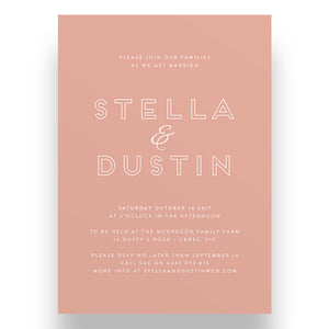 Accent Wedding Invitation