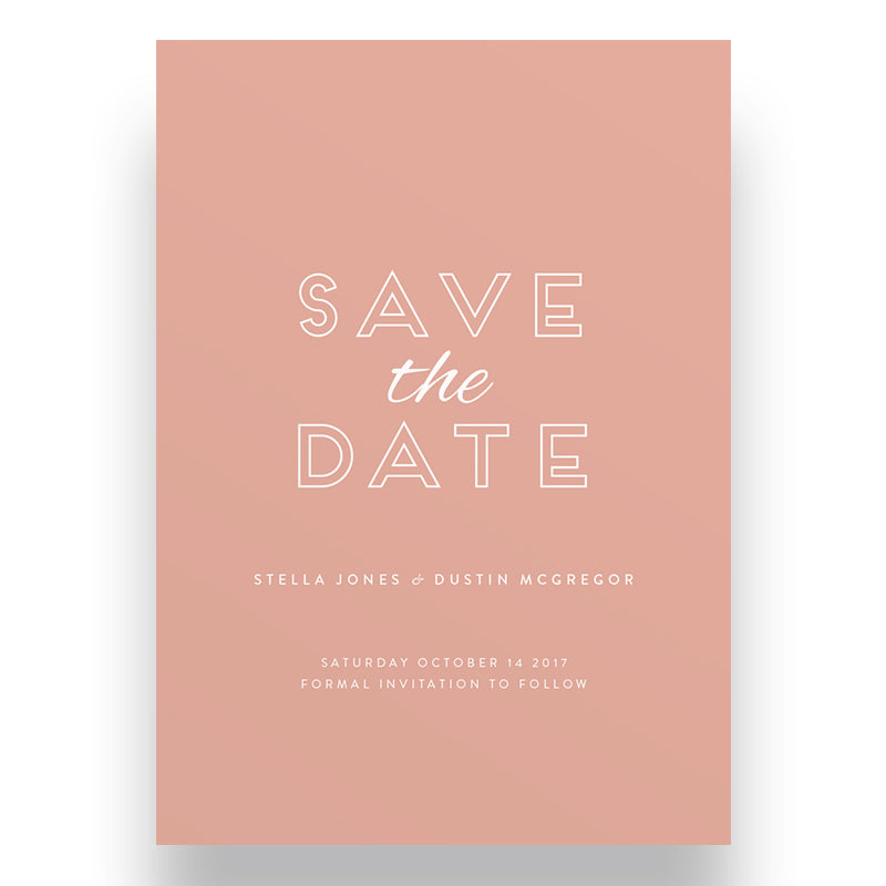 Accent Save the Date