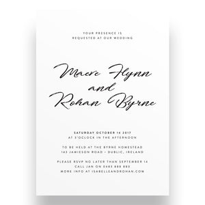 Statement Wedding Invitation