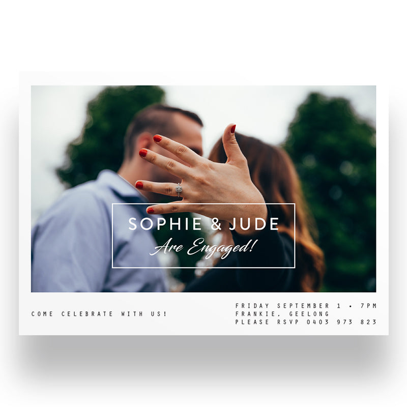 Couples Engagement Invite