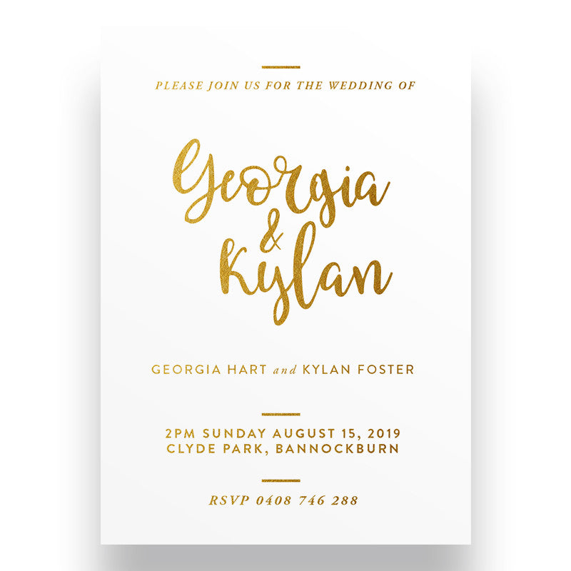 Grace Gold Wedding Invitation