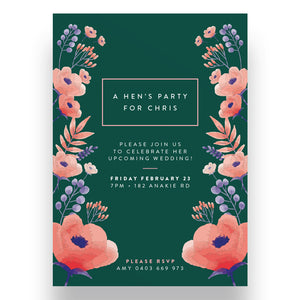 Emerald Bridal Shower Invitation