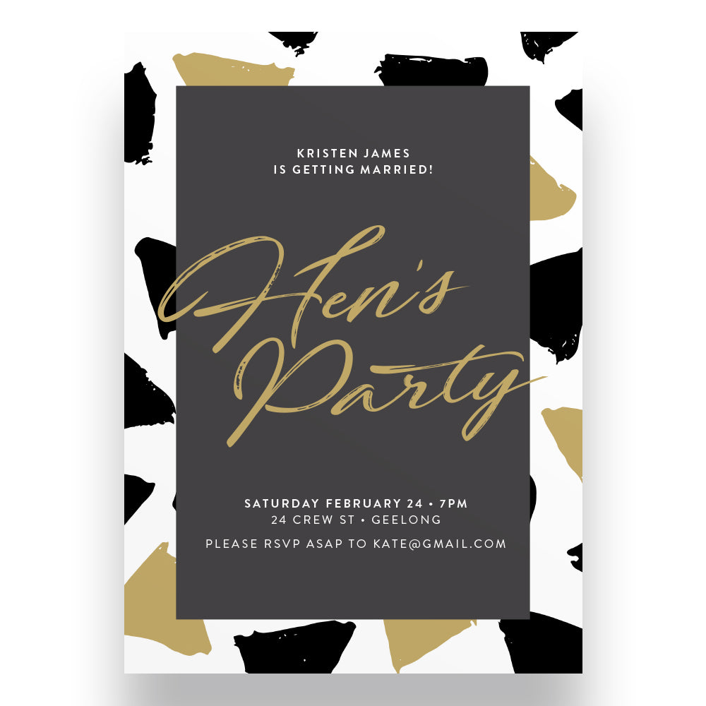 Fancy Pants Hen's Party Invitation