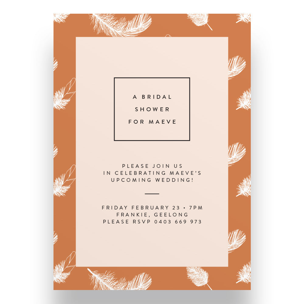 Peachy Keen Bridal Shower Invitation