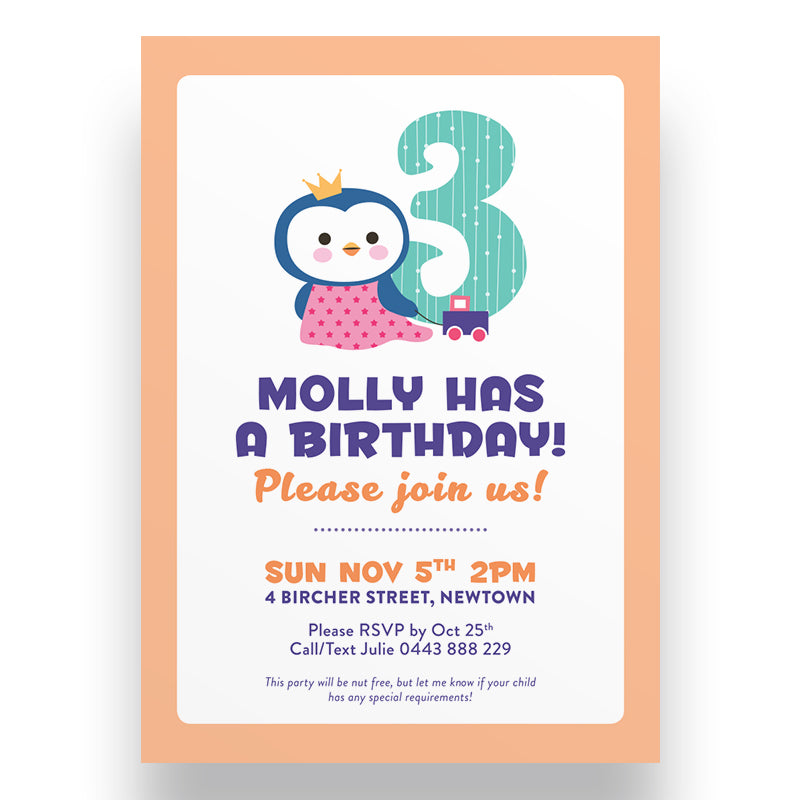 Cuddly Kids Birthday Invitation