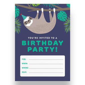 Silly Sloth Kids Invite Pad