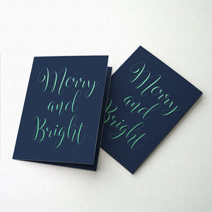 Merry & Bright Christmas Foil Card