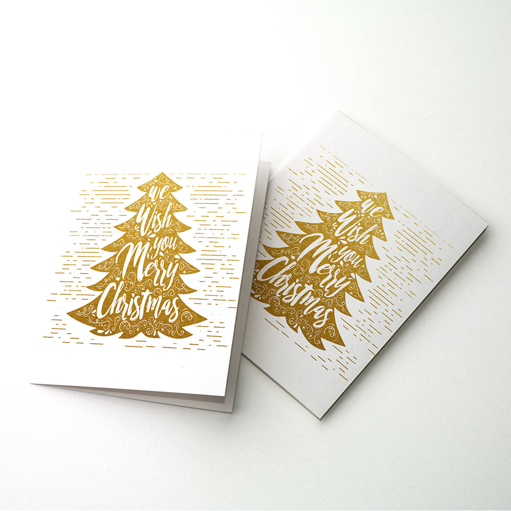 Merry Xmas Tree Christmas Foil Card