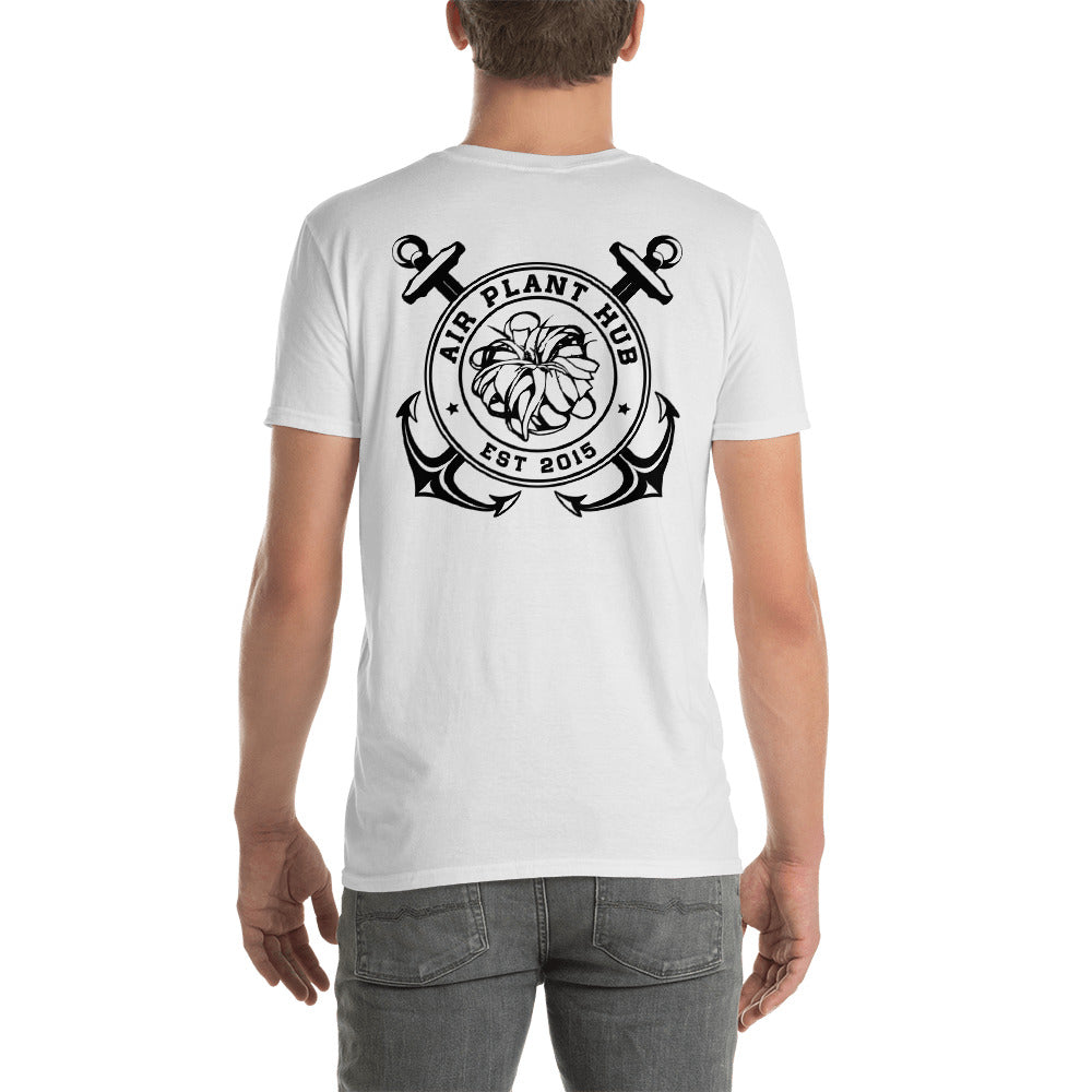 Xerographica Anchors Short-Sleeve Unisex T-Shirt (White)