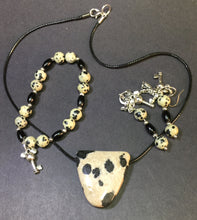 "18"" Dalmation Necklace, Earring and Bracelet Set"