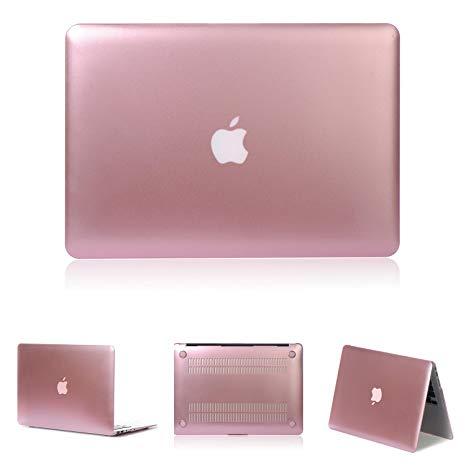 Protector de Goma anti rayones para Macbook Pro 13'' (Rose gold)