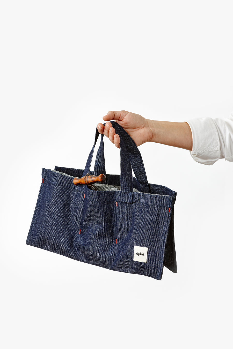 Vin Horizontal Tote | Denim Dark