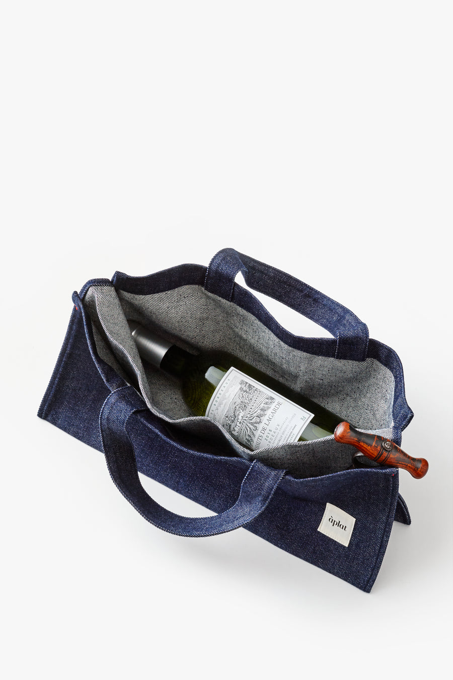 Vin Horizontal Tote | Denim