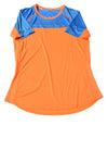 USED Nike Women's Shirt Medium Orange & Blue