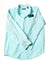 NEW Club Room Men's Shirt Large Aqua & White