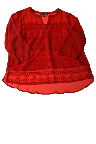 USED Zac & Rachel Women's Petite Top X-Large Red