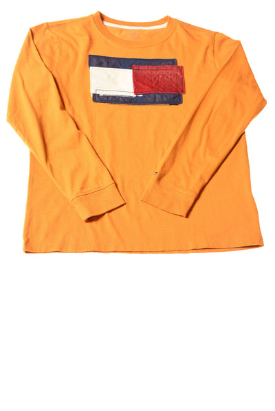 USED Tommy Hilfiger Boy's Shirt Large Mustard