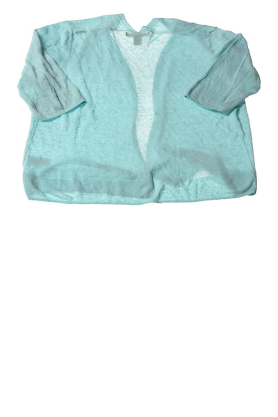 USED Tahari Women's Sweater Medium Aqua