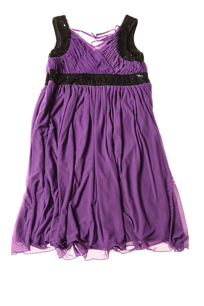 NEW Lane Bryant Women's Dress 14 Purple & Black