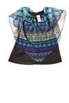 NEW Time Line Women's Top Small Blue / Print