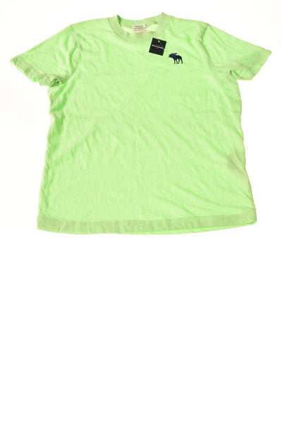 USED abercrombie kids Boy's Shirt X-Large Green
