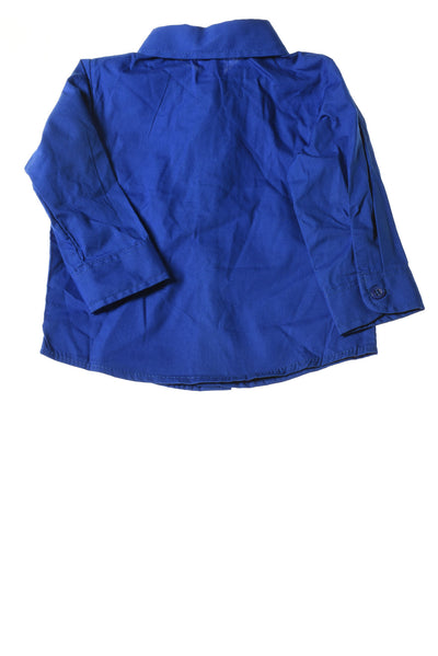 USED George Baby Top 3-6 Months Blue