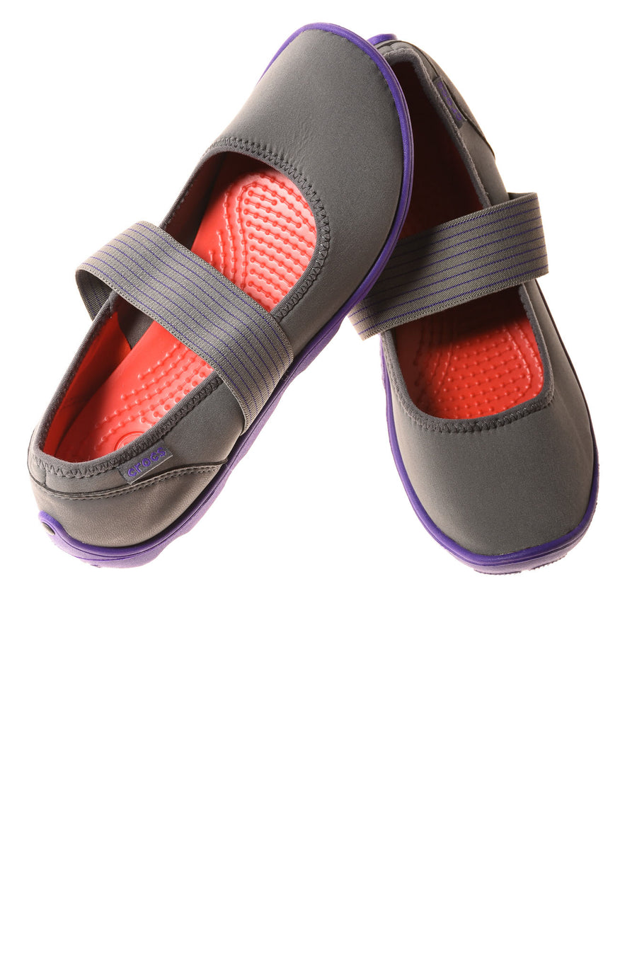 USED Crocs Women's Shoes 7 Gray & Purple