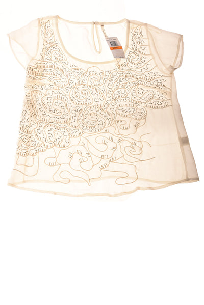 NEW Willow & Clay Women's Top Small Ivory