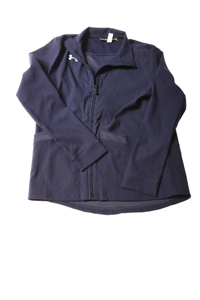 USED Under Armour Girl's Jacket Large Navy Blue
