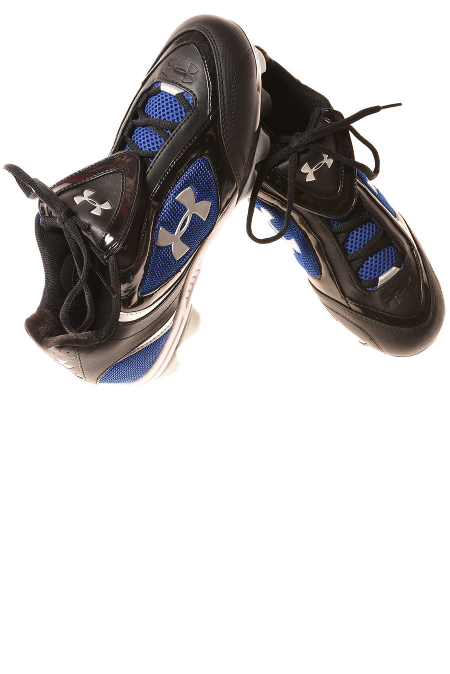 USED Under Armour Women's Cleats 8.5 Black & Blue