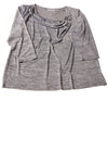 USED Sag Harbor Women's Top 2X Gray