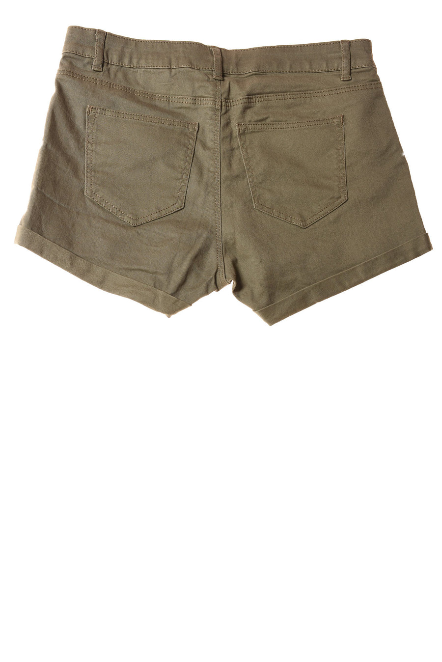 USED H&M Women's Shorts 4 Olive Green
